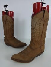 Sendra Cowboy Boots Size 8 Uk Brown Suede & Leather Traditional Pull On Western