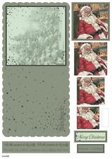 Craft UK Die Cut Concept Card Kit - Christmas 931 - Father Christmas / Santa