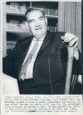 Alabama Governor Big Jim Folsom With His Cane Press Photo