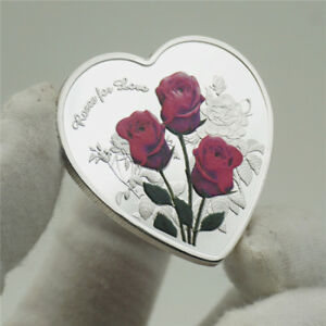 Rose Languages I Love You Coin Wedding Anniversary Valentine's Day Gift