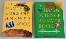 Handy Geography Answer Book + Science Book Lot 2 School Young Scientist Question