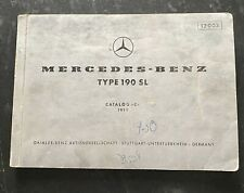 Mercedes Benz Type 190 SL, Catalog C, 1959