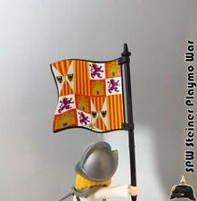 BANDERA HISTORICA ESPAÑA REYES CATOLICOS 1492 PLAYMOBIL MEDIEVAL SOLDADO NO INCL