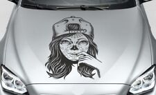 Aufkleber Auto Motorhaube Tribal Car Style Totenkopf TATTOO Sugar Skull Lady 120