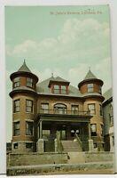 Lyndora Penna St. John's Rectory 1909 Prospect to Freeport Pa Postcard H17