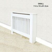 Traditional Radiator Cover Cabinet Vertical Slatted MDF Wood Small Large Unit