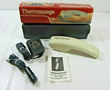 Vintage Thermassage Thermal Magnetic Vibrating Heated Massager Case Adapters Hom