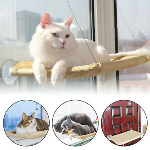 Pet Cat Window Mounted Durable Soft Seat Hammock Perch Bed Hold Up To 20KG Safe