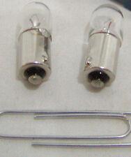 Two (2) Eiko 44 Miniature Lamp Bulb 2.0w Mini Bayonet 6.3 volt 6.3v Free Ship