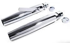 """Schalldämpfer Auspuff straight cut tapered für Harley Davidson 1 1/2"""" bis 1 3/4"""""""