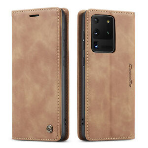 For Samsung Galaxy S21  Note20 Ultra  Leather Flip Stand Wallet Card Cover Case