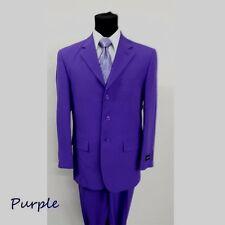New Men's suit 3 button (come with pants) Purple Color by Milaono Moda #802P