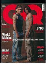 GQ ITALIA 57 GIUGNO 2004 CHRISTIAN VIERI PAOLO MALDINI SERENA AUTIERI