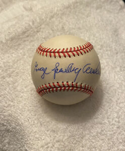 George Sparky Anderson Full Name Signed AUTOGRAPHED VINTAGE ONL Baseball BAS COA