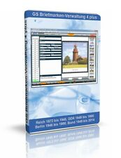 GS Briefmarken-Verwaltung 4 plus - Software zur Verwaltung Ihrer Sammlung