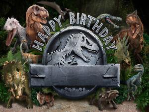 7x5ft Jurassic park World Dinosaur Forest  backdrop birthday party background