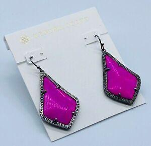 Kendra Scott black/pink earrings