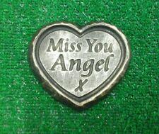 Angel  GRAVE SIDE TRIBUTE GARDEN MEMORIAL HANDMADE NATURAL STONE HEART  remove