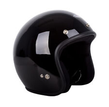 RXT Challenger Open Face Helmet A611C Gloss Black Low Ride with Studs