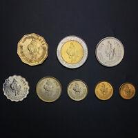 [L-2] Libya Set 8 Coins, 1 5 10 20 50+100 Dirham + 1/4 + 1/2 dinar , AUNC-UNC