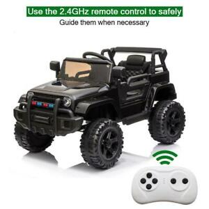Electric 12V Kids Battery Ride On Car Toy Wheel Music w/ Remote Control BLACK