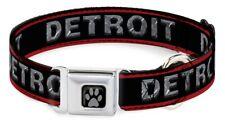 Detroit Dog Seatbelt Collar - Black/Red Small