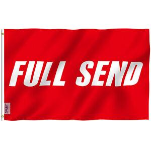 Anley Fly Breeze 3x5 Feet Full Send Red Flag - Nelk Nelkboys for The Boys Flags