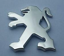 PEUGEOT 307 407 607 100mm x 85mm Rear LION SILVER CHROME BADGE Emblem Logo Boot