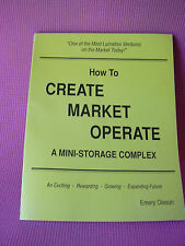 How to Create Market Operate a Mini Storage Complex Business Book Oleson 1993
