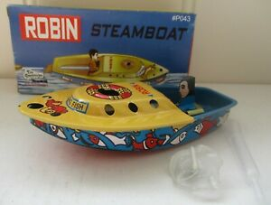 ROBIN STEAMBOAT PUTT PUTT POP POP BOAT VINTAGE MODEL NEW CANDLE POWERED FUN!