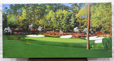 """"""" 13th at Augusta """" Original Hand Embellished 15"""" x 30"""" on Canvas , L.J. Oakes"""