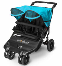 Brand new in box Out n About little nipper double pushchair Marine blue with pvc