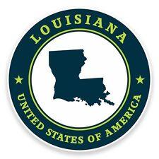 2 x Louisiana USA Vinyl Sticker Car Travel Luggage #9397