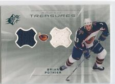 01-02 SPX ROOKIE RC TREASURES DUAL JERSEY BRIAN POTHIER THRASHERS *52443