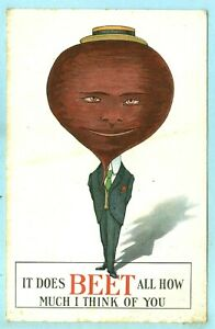 """Vintage, """"IT DOES BEET ALL HOW MUCH I THINK OF YOU"""", Mr. Beet Head..."""