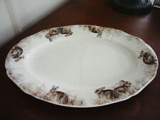 Gien France Faience SOLOGNE Oval Serving Platte r RABBITS / HARE - NEW!