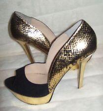 Enzo Angiolini Tempietto Pump Shoes Black/Gold  8.5 new