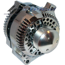 NEW CHROME ALTERNATOR FORD,MUSTANG,COBRA,BILLET PULLEY,160AMP*ONE YEAR WARRANTY*