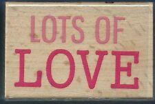 LOTS OF LOVE Card Words Hampton Art Studio G NEW Wood Mount Hobby RUBBER STAMP