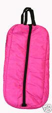 Premium Horse Bridle Halter Padded Bag Case Carrier Three Inner Loops Hot Pink