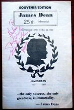 James Dean 25th Memorial Program 9/30/1980 Fairmount,Ind Signed by Martin Sheen