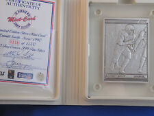1990 Pinnacle Emmitt Smith Silver Highland Mint Commemorative Card B4238