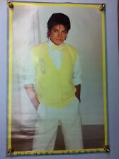 Michael Jackson 1983 Vintage Original Poster Sealed Yellow Sweater