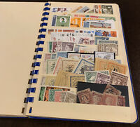 WORLDWIDE STAMP LOT, STOCK BOOK STUFFED W/ MINT & USED STAMPS FROM 50+ COUNTRIES