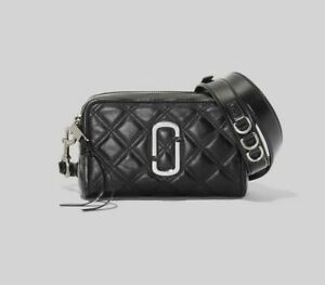 MARC JACOBS The Quilted Softshot 21 Small Camera Bag Cross-body Black