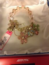 "Betsey Johnson ""Flower Boost"" Half Stretch Flower Bracelet RARE NWT"