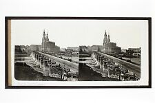 Pont de Dresde Saxe Allemagne Plaque stéréo Ferrier ? ca 1860-65