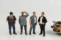1:24 Figur Figuren Hanging out cool Set 4 pcs Mann American Diorama