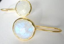 Mondsteinohrringe, 925 Silber vergoldet