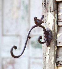 Metal Cast Iron Garden Hanging Hook BIRD Wall Coat RackFarmhouse Chic Style NWT